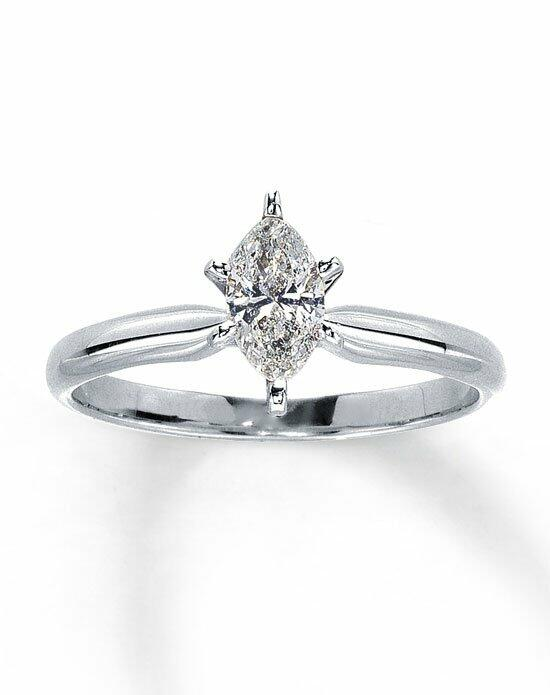 Kay Jewelers Diamond Solitaire Ring 1/2 ct Marquise 14K White Gold-161233301 Engagement Ring photo