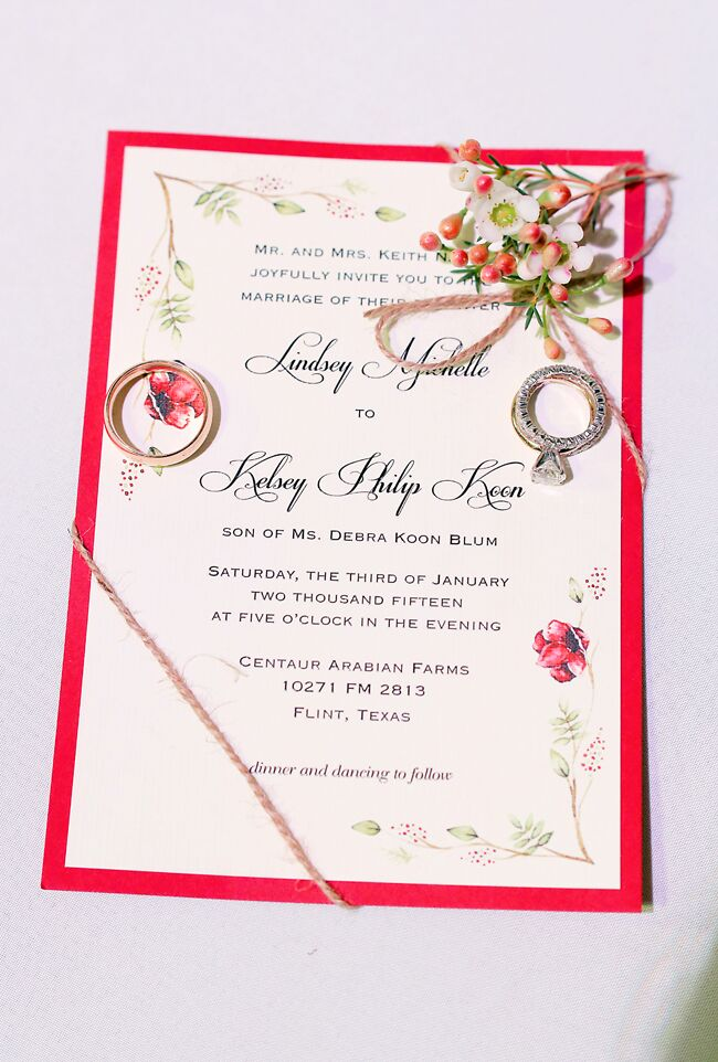 The stationery was custom designed by an artist friend of the couple's to reflect the winter theme.