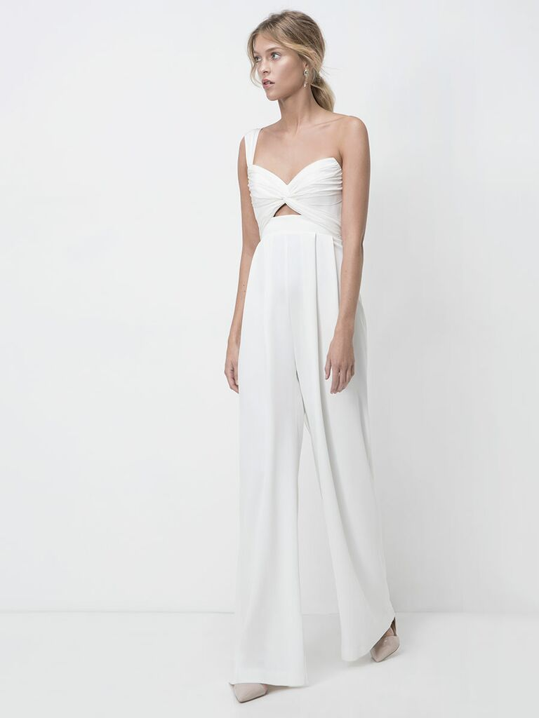 Lihi Hod Fall 2018 wedding dresses asymmetrical jumpsuit with wide legs
