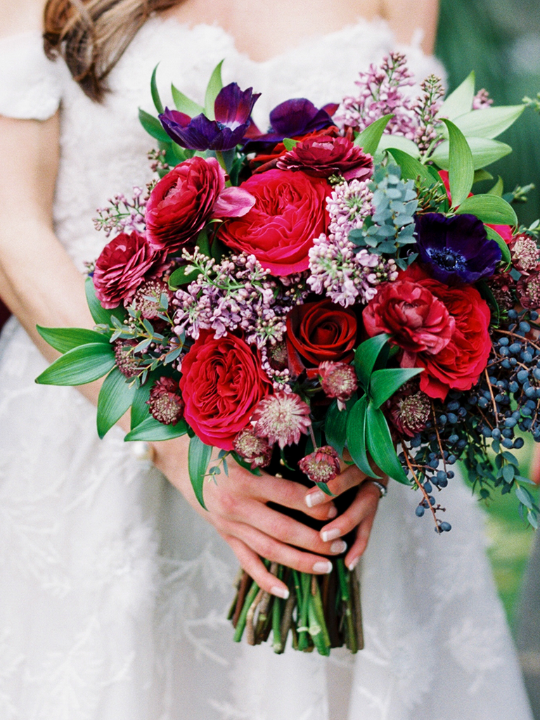 Winter wedding bouquets youll love jewel tone bouquet junglespirit Images