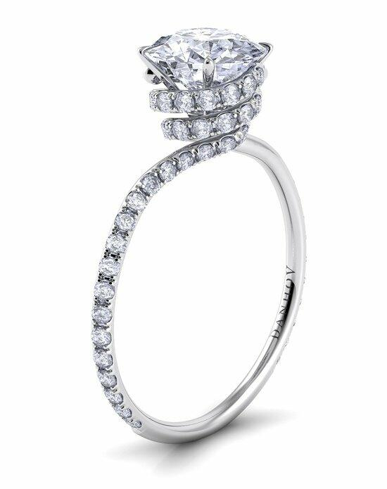 Danhov Abbraccio Royale Swirl Engagement Ring photo