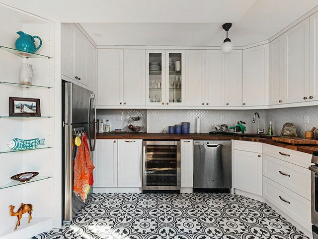 Newlyweds Turn Their Generic Brooklyn Kitchen Into a Chic Culinary Space