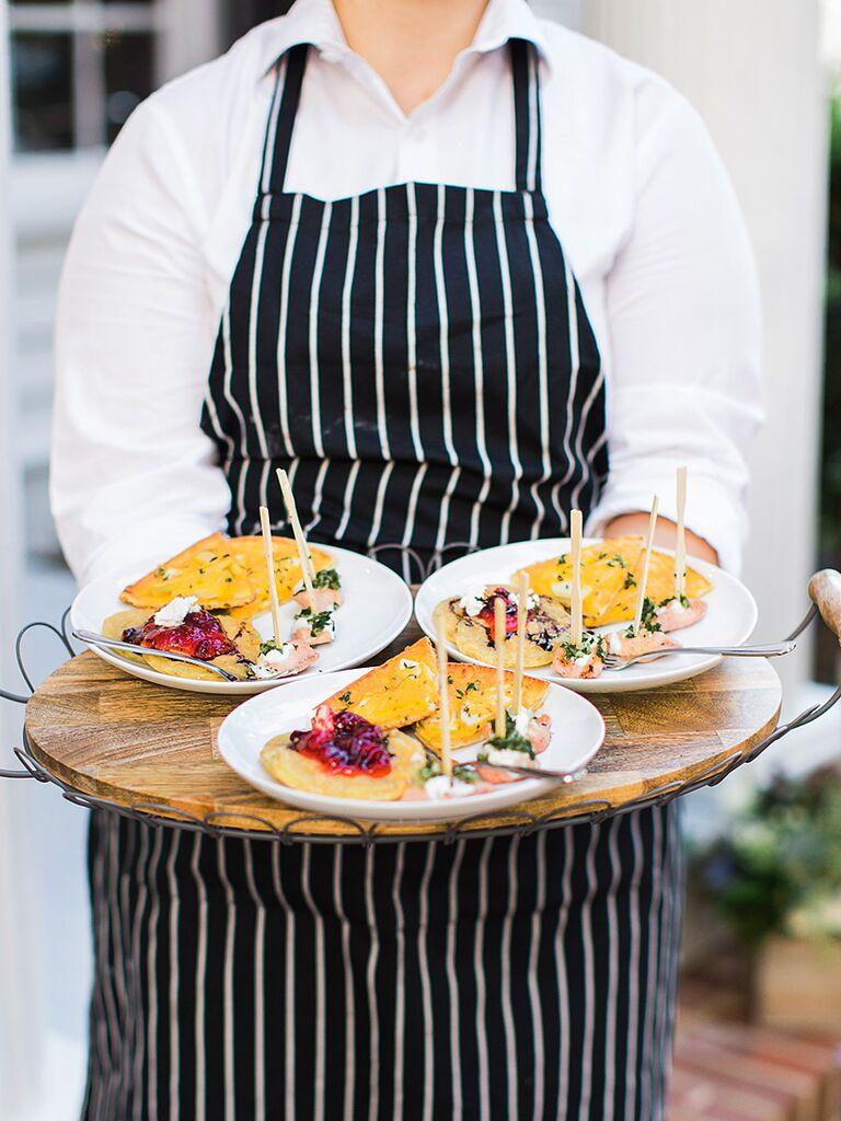 Thanksgiving Inspired Menu Idea For A Wedding Reception Entree