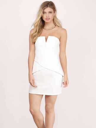 TOBI Tough Love Ivory Bodycon Dress