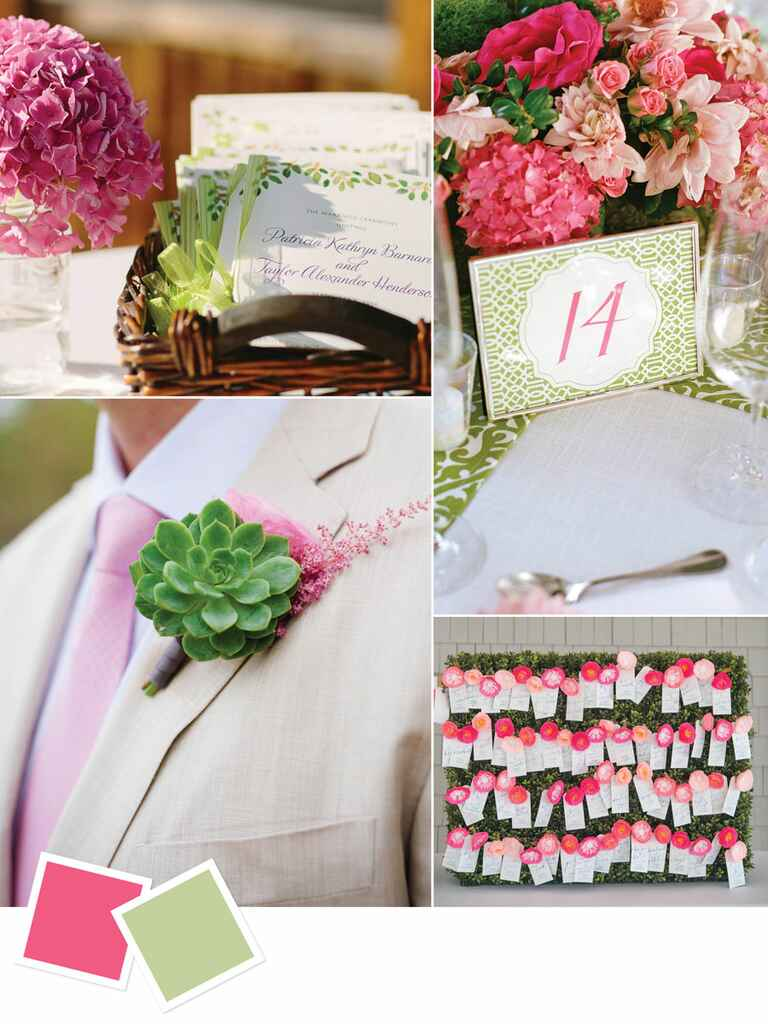 Preppy color combination of pink and pale green