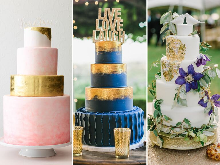 Metallic wedding cake inspiration