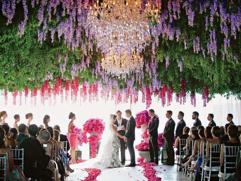 flower ceiling installation