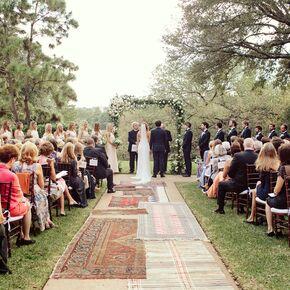 Bohemian wedding aisle decorations vintage rug aisle junglespirit Image collections