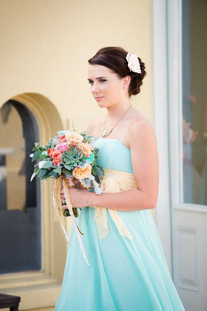 Robin's Egg Blue Bridesmaid Dress