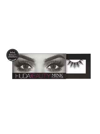 The Knot's pick for best false lashes are the Huda Beauty Mink lash in Naomi
