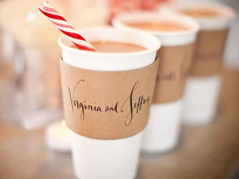 Hot Chocolate With Custom Sleeves