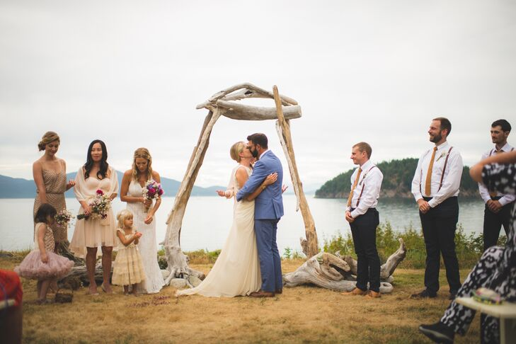 Rustic Driftwood Ceremony Arch