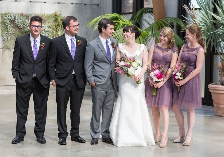 Purple Bridal Party Looks