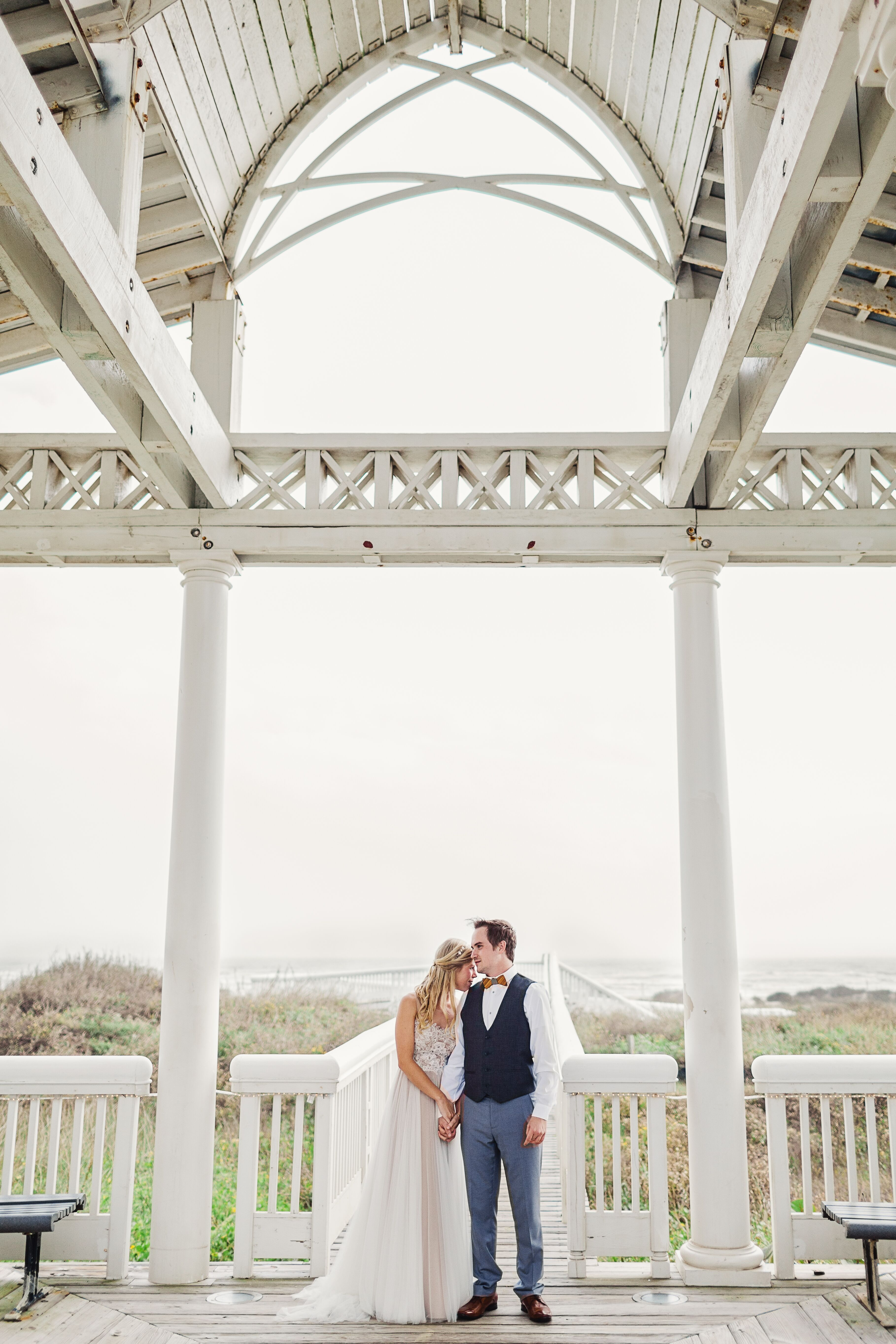 A Diy Winter Wedding At Garten Verein In Galveston Texas