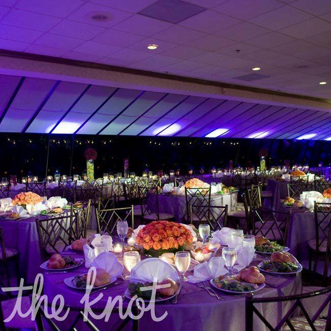 Purple Orange Wedding Ideas: Orange And Purple Reception Decor