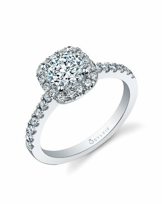 Sylvie Collection SY999 pear Engagement Ring photo