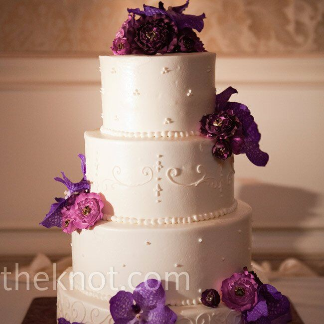 purple orchid wedding cake purple orchid cake 6900