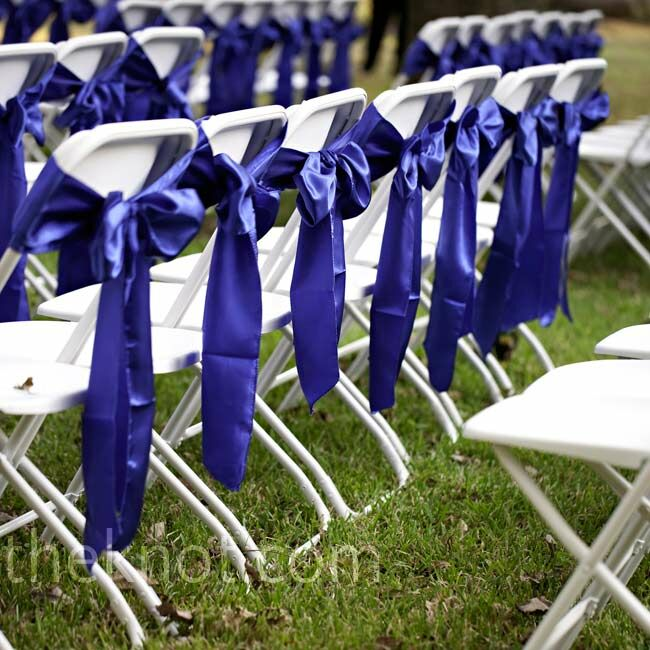 outdoor wedding ceremony chair decor
