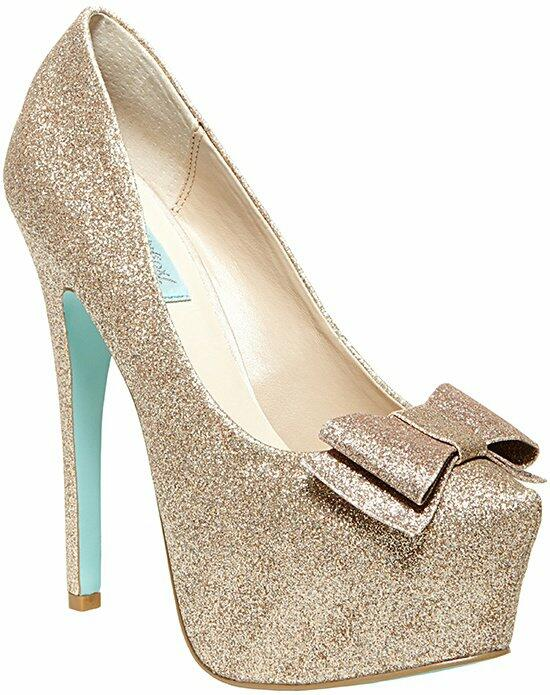 Blue by Betsey Johnson SB-Gala- Champagne Wedding Shoes photo