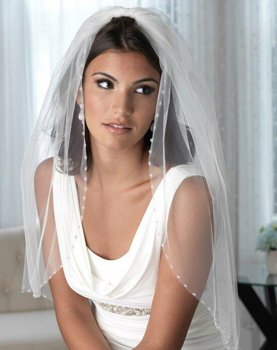 USABride Delicate Crystal Beaded Edge Veil VB-5014 Wedding Veils photo