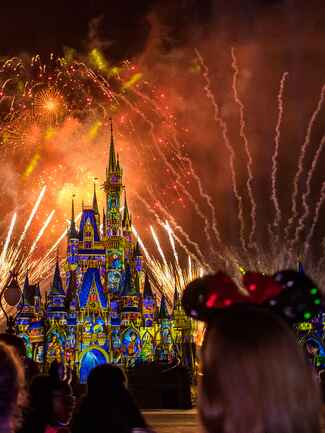 Romantic places to propose at Disney, like during the fireworks at Magic Kingdom