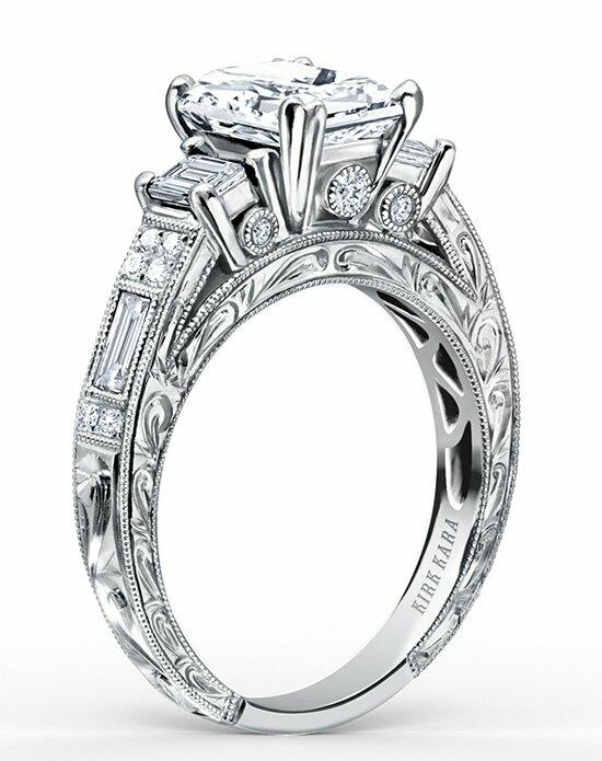 Kirk Kara Charlotte Collection K1384DE-R Engagement Ring photo