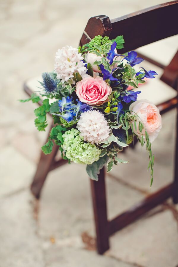 Blue Texas Wildflower Bridal Bouquet
