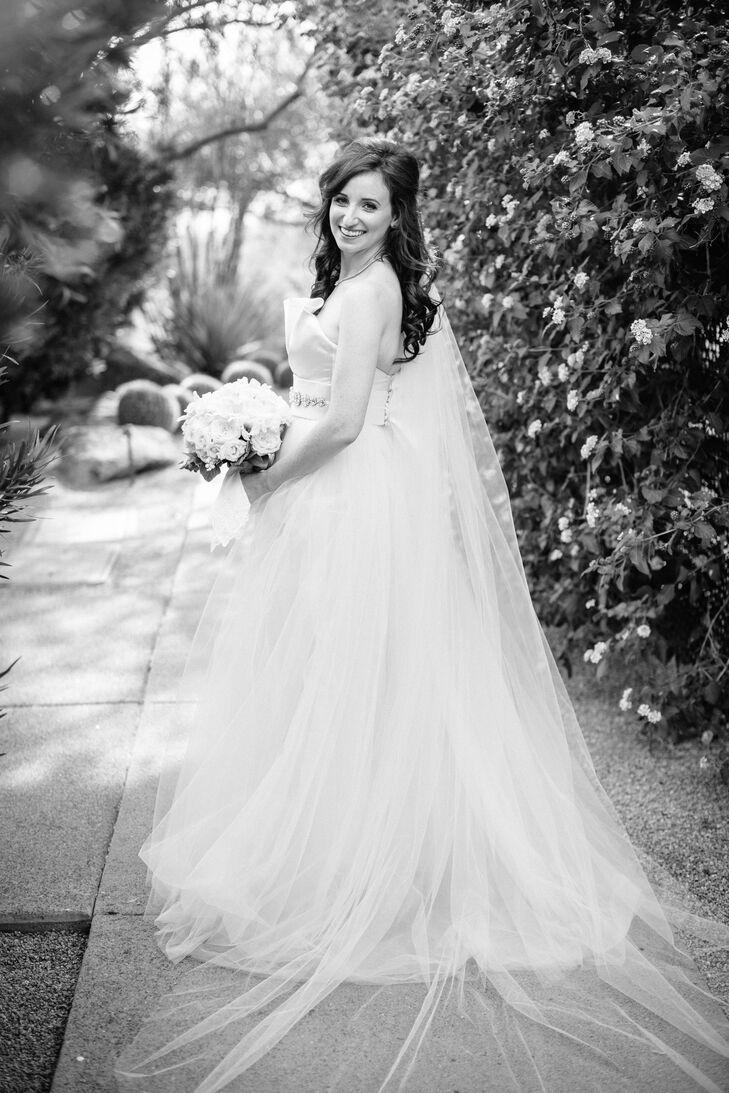 Ball-Gown Wedding Dress with Cummerbund