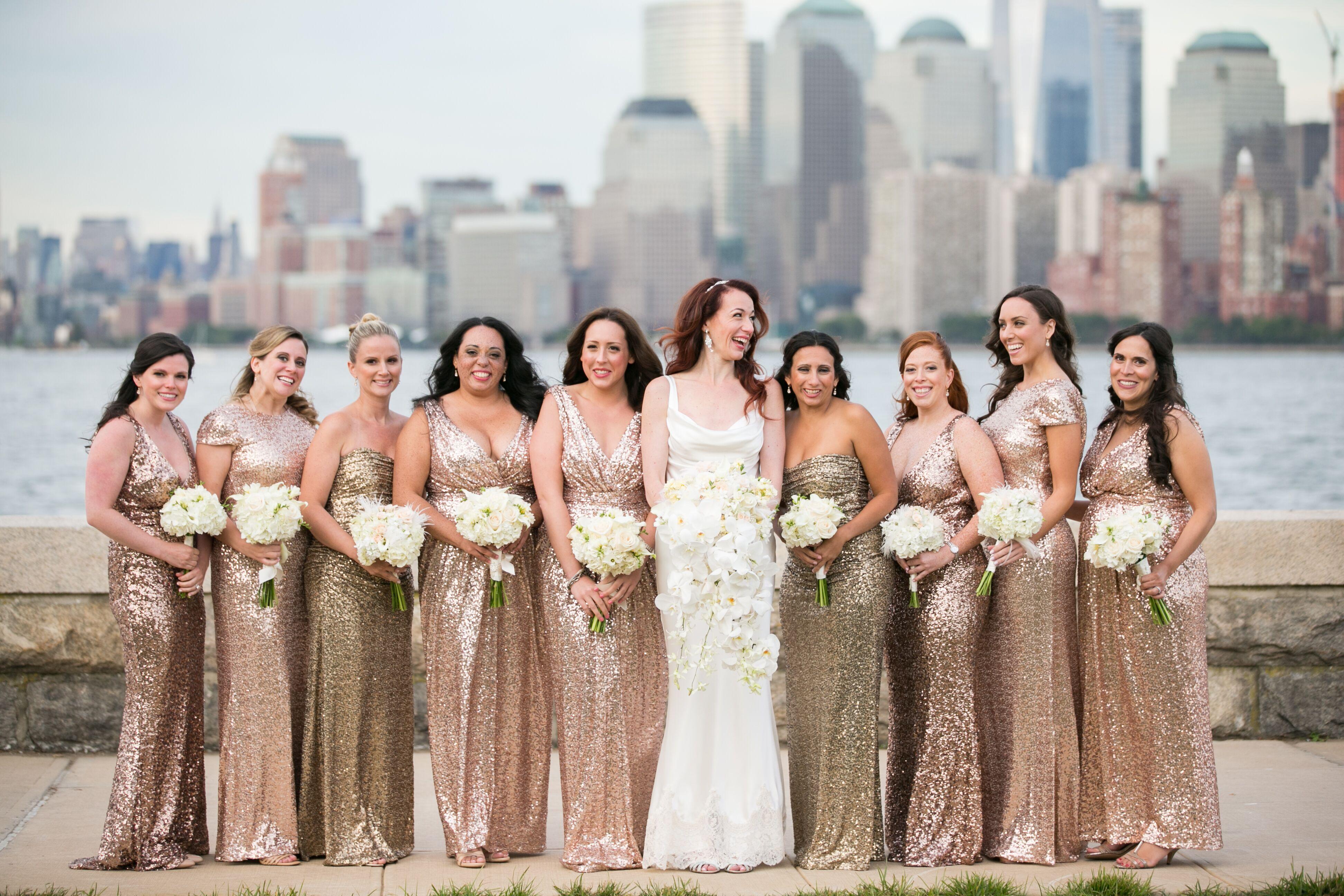 Gold sequin badgley mischka bridesmaid dresses ombrellifo Images