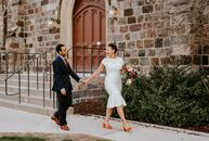 "The spring season provided the ideal backdrop for Harvard grads Avery Williamson and Kidus Asfaw's wedding, which they said described as a ""moment of"