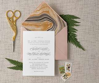 DIY wedding invitation envelope liner