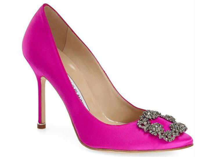 Manolo Blahnik Hangisi Pink Heel