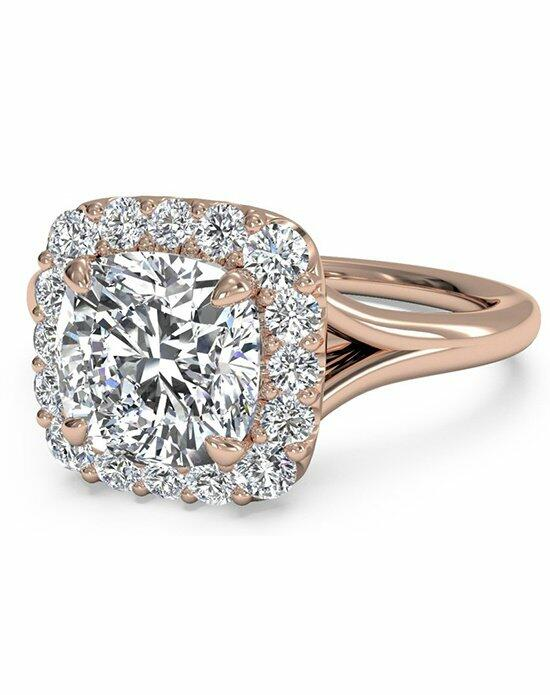 Ritani Cushion Cut French-Set Halo Diamond Engagement Ring in 18kt Rose Gold (0.20 CTW) Engagement Ring photo