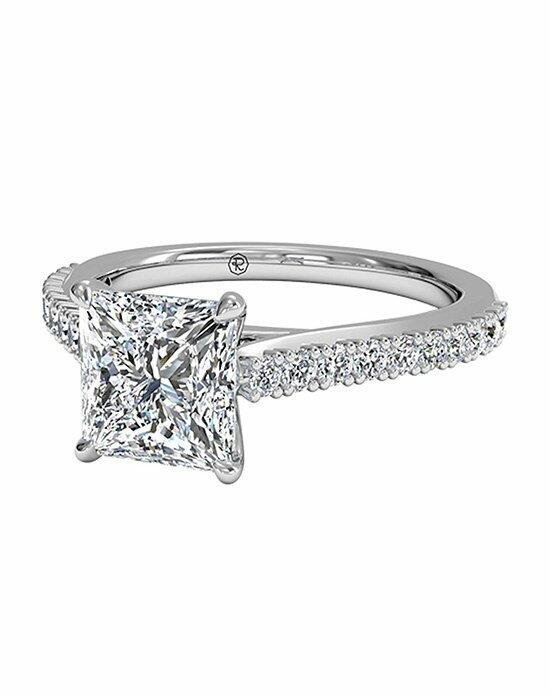 Ritani Princess Cut French-Set Diamond Band Engagement Ring with Surprise Diamonds in 18kt White Gold (0.24 CTW) Engagement Ring photo