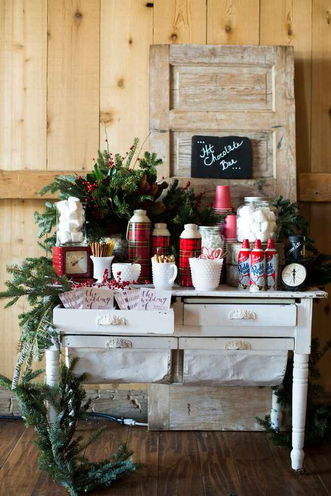 Rustic DIY Hot Chocolate Bar
