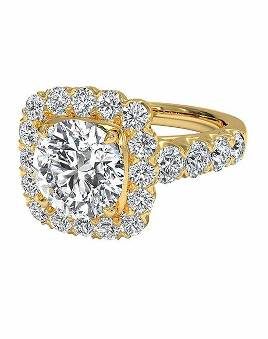 Ritani Round Cut Masterwork Cushion Halo Diamond Band Engagement Ring in 18kt Yellow Gold (0.75 CTW) Engagement Ring photo