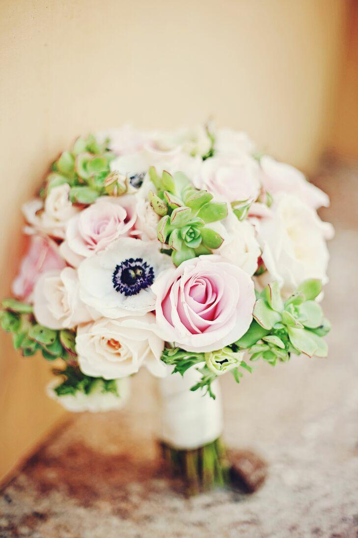 Soft anemone and rose flower bouquet izmirmasajfo