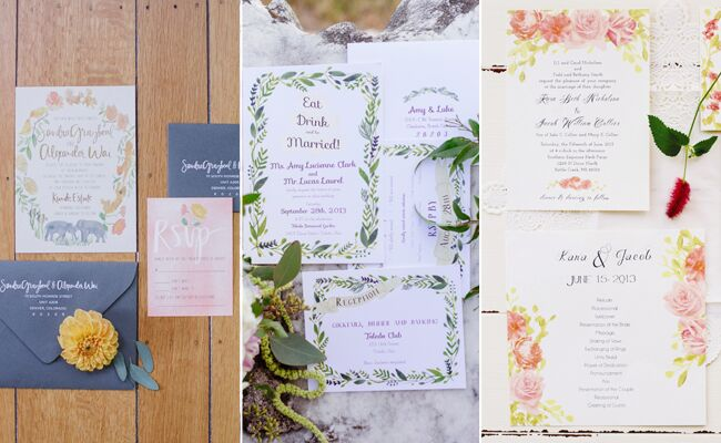 Floral Invitation Suites | blog.TheKnot.com