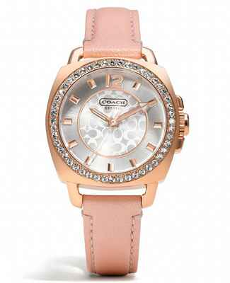 Mini Boyfriend Breast Cancer Awareness Pink Watch