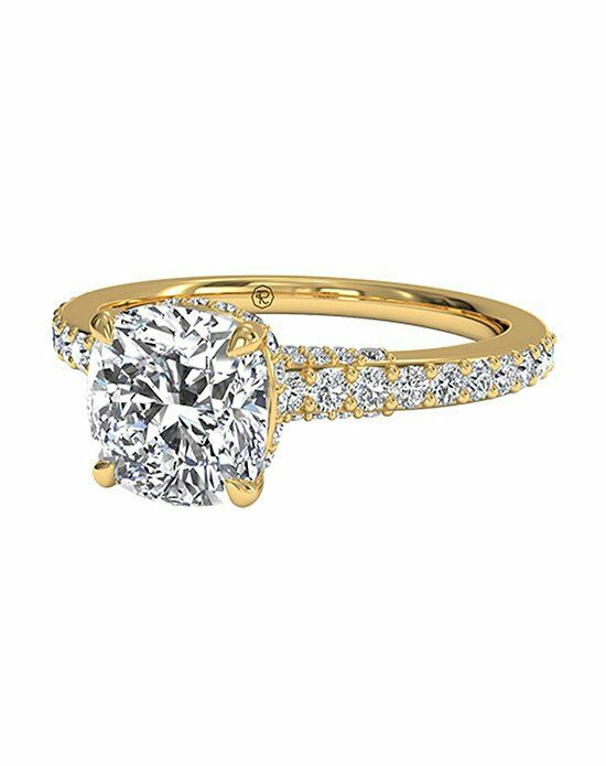 Ritani Cushion Cut French-Set Diamond Band Engagement Ring in 18kt Yellow Gold (0.45 CTW) Engagement Ring photo