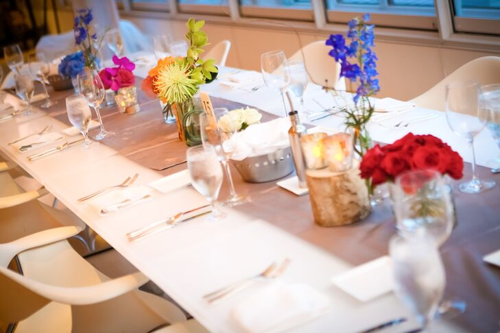 Colorful Flowers on Modern Chicago Dining Table