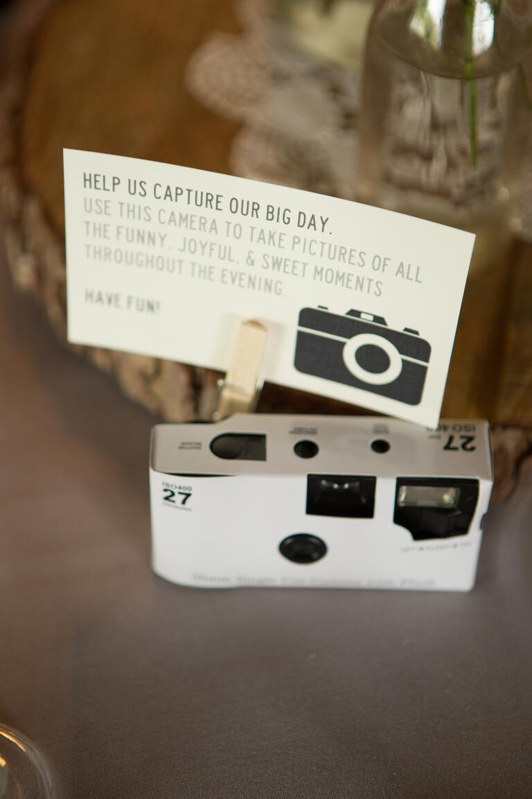 DIY wedding photography disposable camera