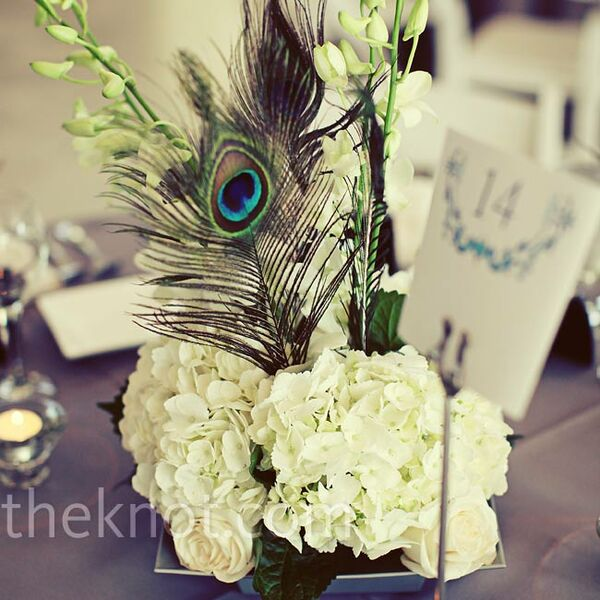 Fl And Feather Centerpieces
