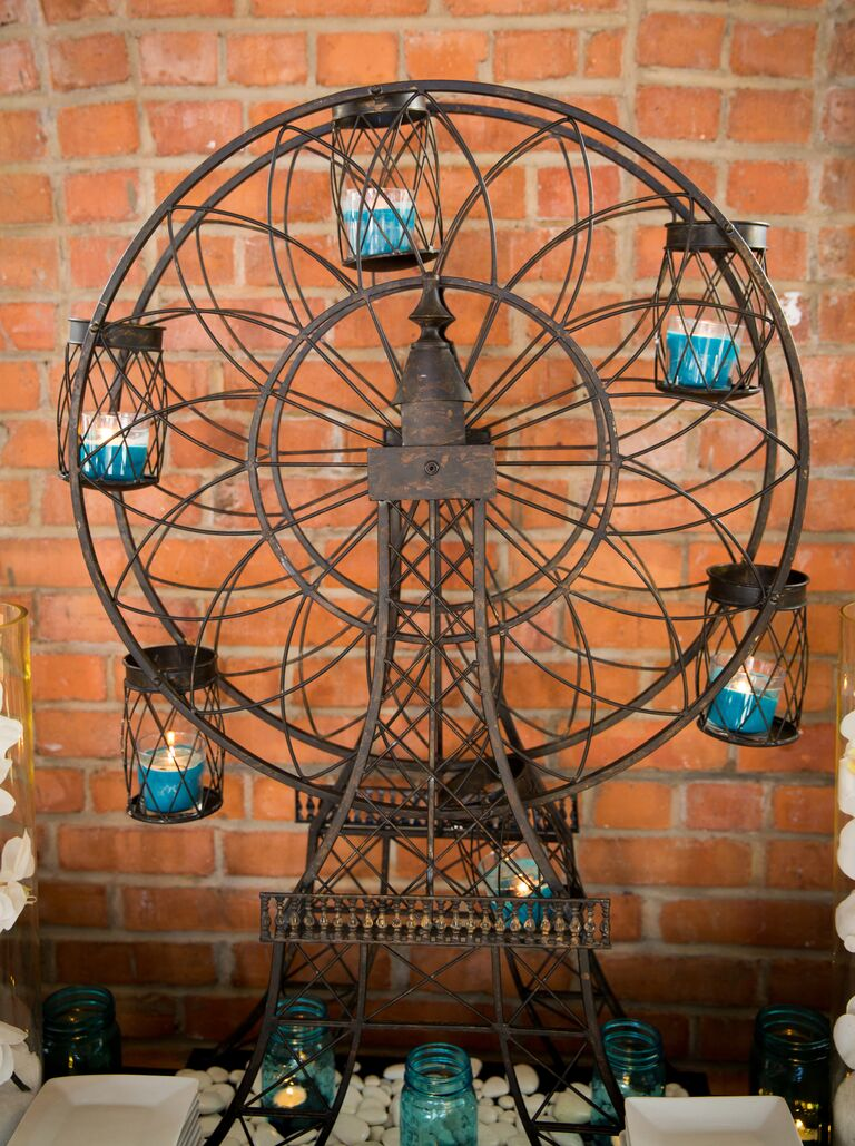 Ferris wheel votive candle holder