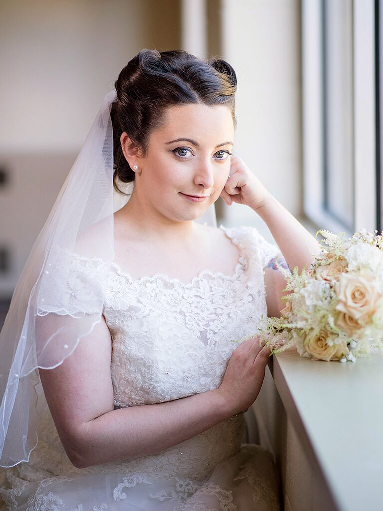 Vintage Wedding Hairstyle With Pin Curls