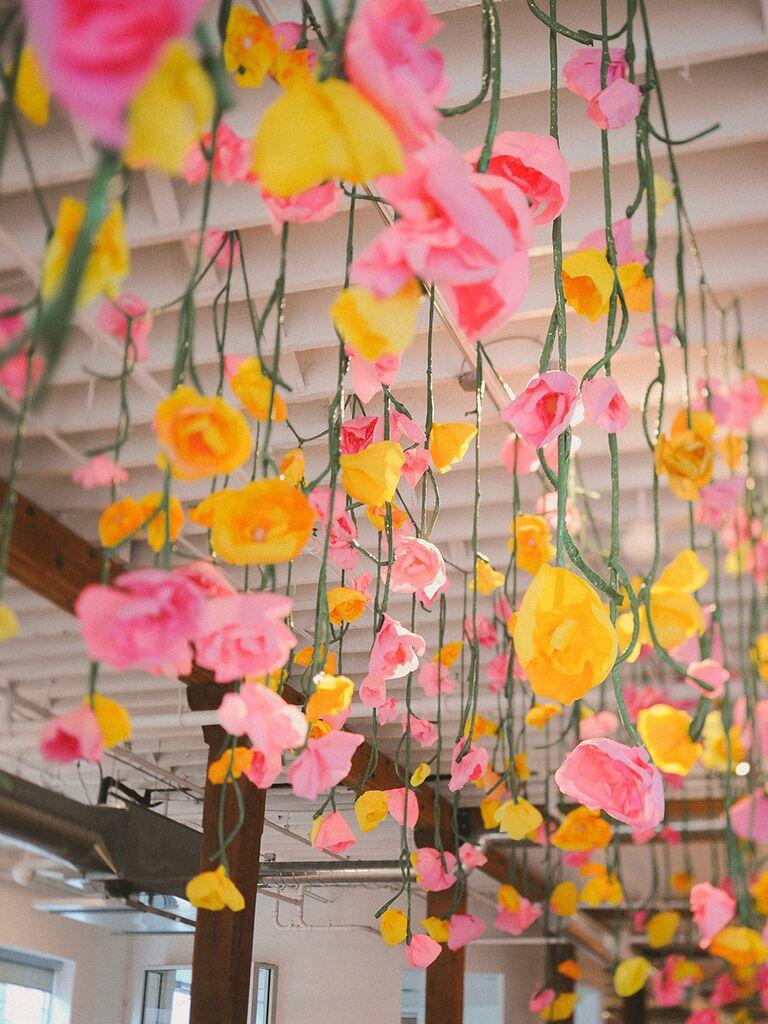 Paper Flower Themed Bridal Inspiration Flowers By Khrystyna Balushka Fl Artistry Photo