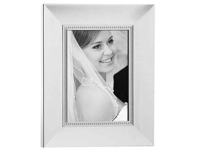 Silver picture frame engagement gift ideas