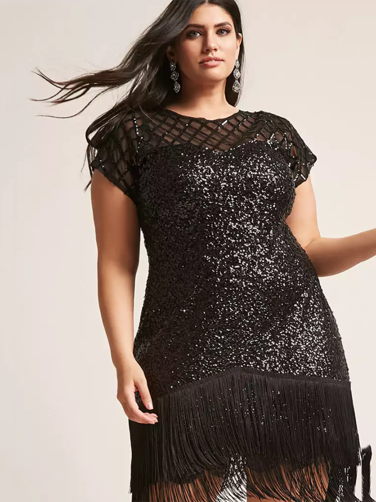 7. This Glittering, Fringey Number Gives Us Major Retro Vibes. For Winter  Weddings, Pair With Stunning Accessories That Are Just As Glam.