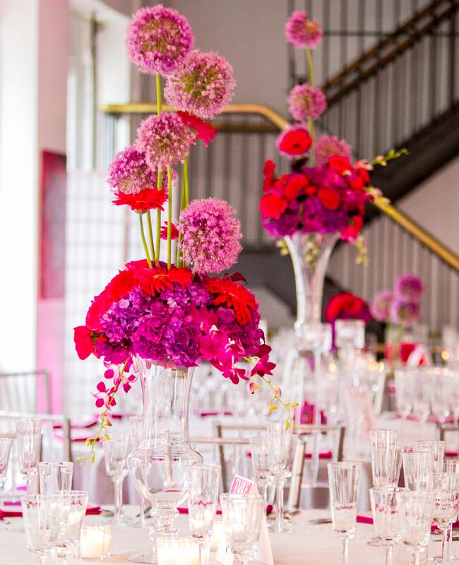 A Bright Pink And Purple Wedding By Wedding