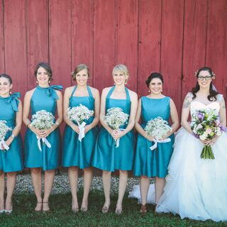 Real Blue Bridesmaid Dresses